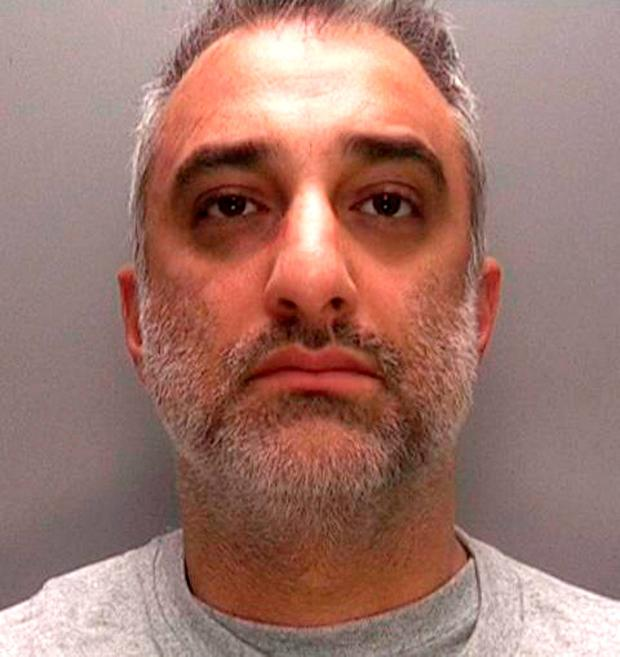 Undated handout photo issued by West Midlands Police of Babur Karamat Raja, 41, who will be sentenced today for attempting to murder a pregnant woman who was repeatedly stabbed in a