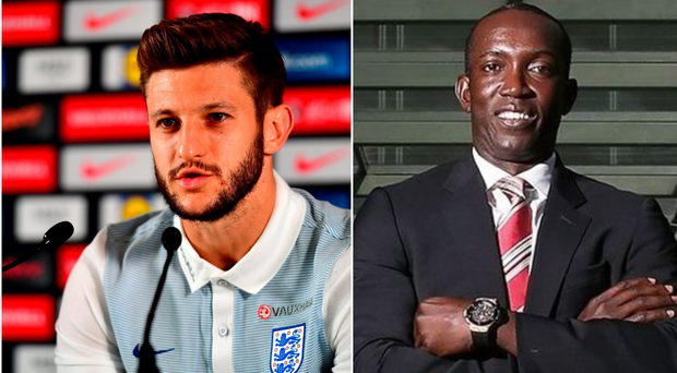 Adam Lallana and Dwight Yorke