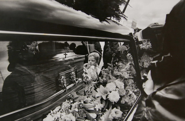 Cathal Turley at the funeral of his mother Veronica Guerin