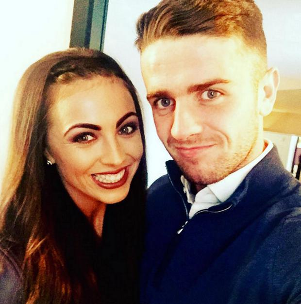 Footballer Robbie Brady and girlfriend Kerrie Harris. Picture: Instagram
