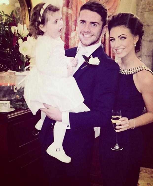 Footballer Robbie Brady and girlfriend Kerrie Harris with their daughter Halle. Picture: Instagram