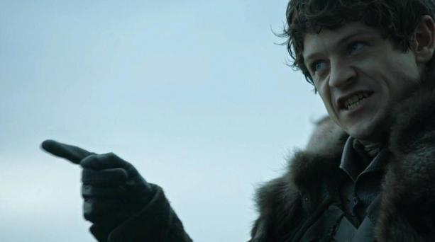 Ramsay Bolton played by Iwan Rheon on Game of Thrones