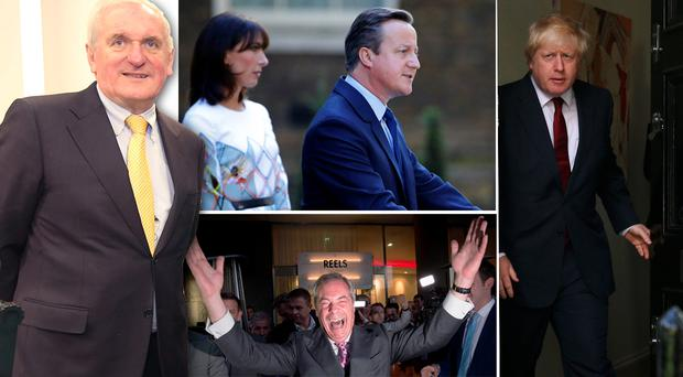 Bertie Ahern, David Cameron's resignation speech, Boris Johnson and Nigel Farage
