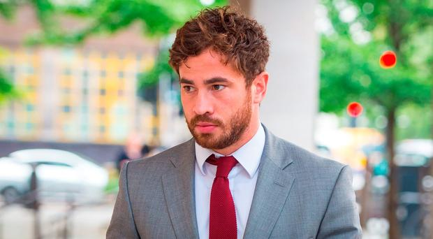 Danny Cipriani arriving in court this morning
