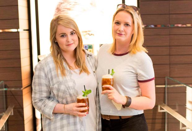 Aimee Moriarty and Anna White at the World of Coffee preview at the Nespresso boutique on Duke Street, Dublin. Picture: Robbie Reynolds