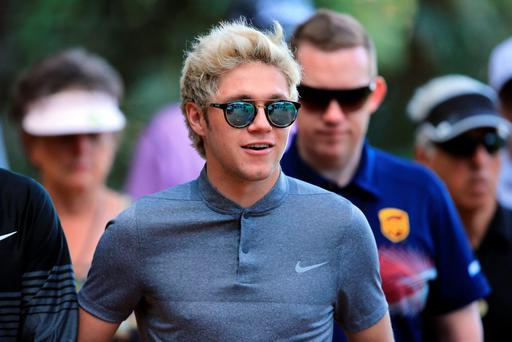 Singer Niall Horan attends the first round of the 2016 Masters Tournament at Augusta National Golf Club on April 7, 2016 in Augusta, Georgia. (Photo by David Cannon/Getty Images)