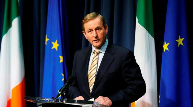 Taoiseach Enda Kenny speaks during a press conference in Dublin, after Britain voted to leave the European Union: Niall Carson/PA Wire