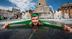 Rob Feeney from Lucan who is making his way to Lyon for tomorrow's match. Photo: Mark Condren