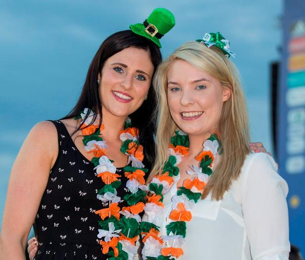 Michelle Quirke and Jane Ryan travelled from Tipperary to France. Photo: Mark Condren