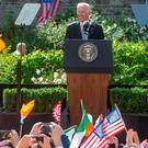 US vice president Joe Biden speaks at Dublin Castle yesterday