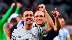 The Ireland team will need to activate their survival instinct to defeat a formidable France. Photo by Stephen McCarthy / Sportsfile