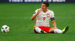 "Poland coach Adam Nawalk: ""We have no problem with the fact that Lewandowski hasn't scored yet because he is doing a great job for us"""