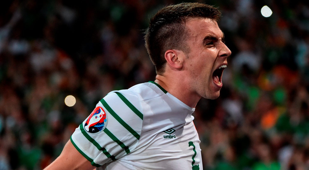 Seamus Coleman was Ireland captain against Italy. Photo by David Maher/Sportsfile