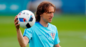 The influential Luka Modric returns to the Croatia midfield tonight. Photo: AFP/Getty
