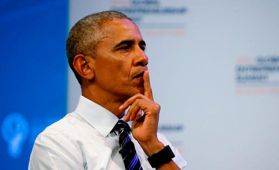Mr Obama said the ruling was 'heartbreaking' for the millions of immigrants.. REUTERS/Kevin Lamarque