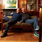 BBC Top Gear hosts Chris Evans and Matt LeBlanc relax in the Killarney Oaks hotel during filming