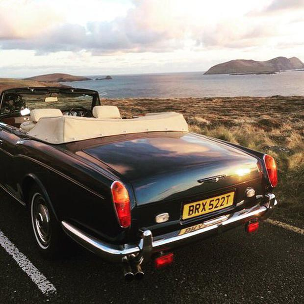Twitter shot posted by Chris Evans from his trip to Dingle and West Kerry