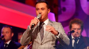 Nathan Carter performing on the inaugural RTÉ Irish Country Music Awards on RTÉ One. Picture: Andres Poveda