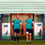Ireland captain Rory Best, left, and team-mate Jordi Murphy