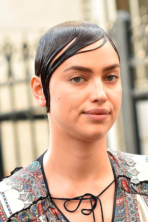 Irina Shayk is seen leaving Givenchy Fashion Show during the Paris Fashion Week - Menswear Spring/Summer 2017 on June 24, 2016 in Paris, France.