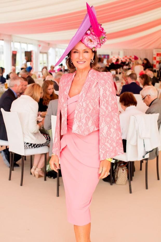 Celia Holman Lee at the Dubai Duty Free Irish Derby at the Curragh Racecourse. Picture: Anthony Woods