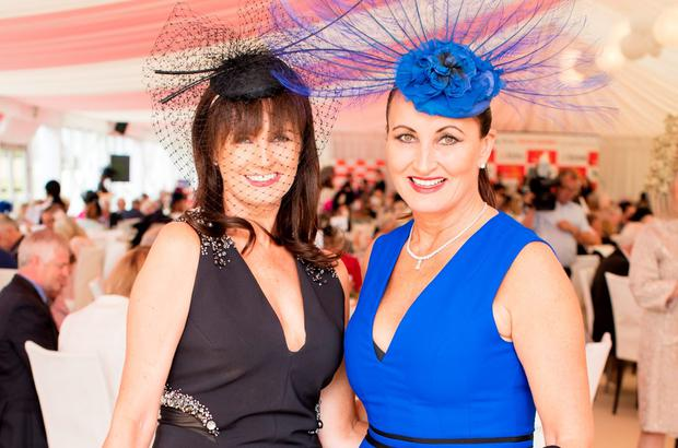 Caroline O'Connell & Annette Rocca at the Dubai Duty Free Irish Derby at the Curragh Racecourse. Picture: Anthony Woods
