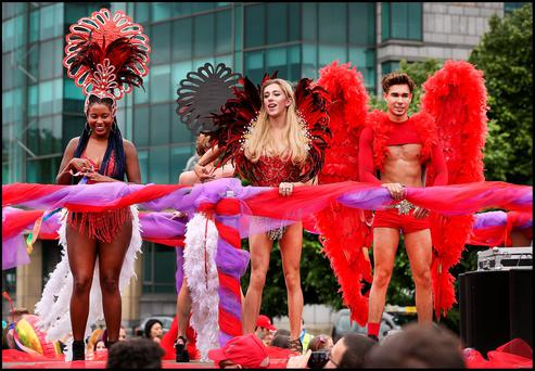 The Pride Parade in Dublin City Centre. Picture: Steve Humphreys