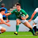 Conor O'Brien of Ireland in action during the World Rugby U-20 Championships Final match between Ireland and England at AJ Bell Stadium in Salford, England. Photo by Matt McNulty/Sportsfile