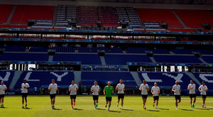 Republic of Ireland players during squad training at Stade de Lyon in Lyon. Photo: David Maher/Sportsfile