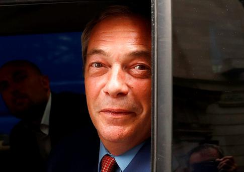To the victor, the spoils: Nigel Farage has seen a 25-year campaign for Britain to leave the EU finally triumph at the polls. Photo: Reuters