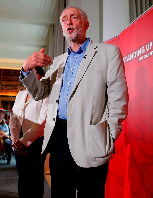 Defiant: British opposition Labour Party leader Jeremy Corbyn says he won't resign like David Cameron. Photo: Getty