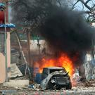 Terror: Yesterday's suicide bomb attack in Mogadishu. Photo: Reuters