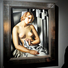 The galleries of delight: Viewing a Tamara de Lempicka painting prior to a sale at Sotheby's in London — where art is serious business. But has our Government forgotten about the importance of art for any society?