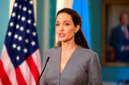 A-list ambition: Jolie wants to put acting behind her, describes herself as a humanitarian and has political hopes. Photo: AP