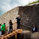 Eye-opener: Historian Claire Tuffy shows Vice President Joe Biden and his family around Newgrange in County Meath. Photo: Arthur Carron
