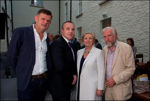Brendan O'Connor, Cormac Bourke, Tanister Frances Fitzgerald TD and Willy Kealy. Photo: David Conachy.