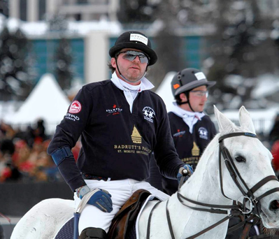 Irish international polo team captain Richard Fagan