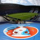 LYON, FRANCE - JUNE 26: A general view of the stadium prior to the UEFA EURO 2016 round of 16 match between France and Republic of Ireland at Stade des Lumieres on June 26, 2016 in Lyon, France. (Photo by Simon Hofmann - UEFA/UEFA via Getty Images)