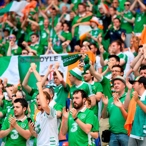 Republic of Ireland supporters ahead of the clash with France in Lyon. Photo by Stephen McCarthy/Sportsfile