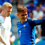 France's Antoine Griezmann as James McClean reacts. REUTERS