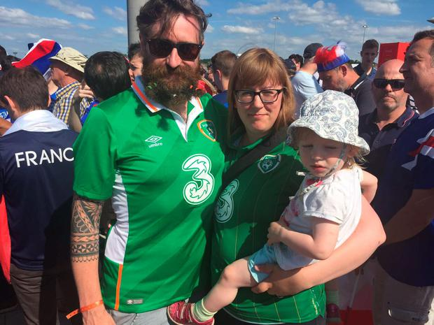 Barry Moriarty, his wife Lori and their daughter Ellidh