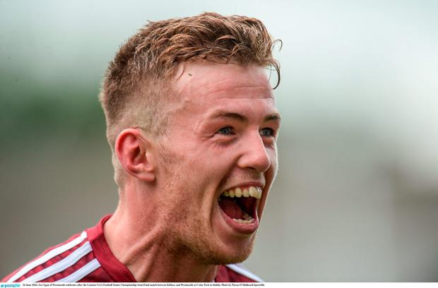 Ger Egan of Westmeath celebrates