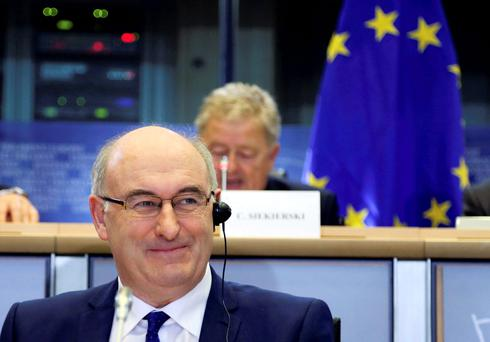EU Commissioner Phil Hogan will meet Europe's ag riculture ministers in Luxembourg. Photo: Reuters/Francois