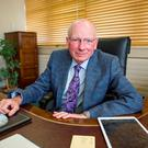 Kevin Duffy, outgoing chairman of the Labour Court, in his office. Photo: Doug O'Connor