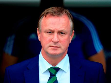 Northern Ireland manager Michael O'Neill. Photo: Jonathan Brady/PA Wire.