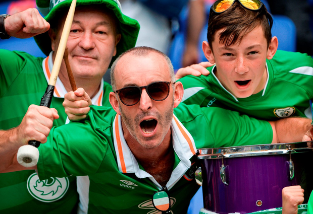 Irish supporters go through a range of emotions during and after the game. Photo: Sportsfile