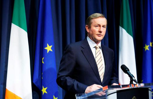 Taoiseach Enda Kenny . Photo: Tom Burke