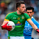 Meath's Mickey Newman in action against Dublin's Cian O'Sullivan. Photo: Oliver McVeigh/Sportsfile