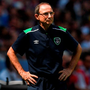 Republic of Ireland manager Martin O'Neill on the sideline in Lyon yesterday. Photo: Stephen McCarthy/Sportsfile