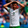 Shane Long looks dejected after the game. Photo: Stephen McCarthy/Sportsfile